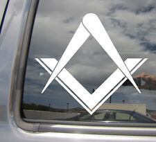 Freemason Masonic Square Compass Stonemasons - Vinyl Die-Cut Decal Sticker 10001