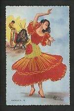 Embroidered clothing postcard Artist Gumier, Spain, Andalucia woman matador #18