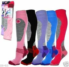 4 Ladies New ERBRO Thermal Padded Long High Performance Ski Socks UK 4 - 7