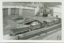 6D411 RP 1970 UNION RAILWAY 4 ENGINES TURNTABLE ROUND HOUSE HALL PA
