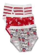 NWT Gymboree Stripe Pirate Ship Skull Red Underwear Boys Briefs S 5 6 3-pack