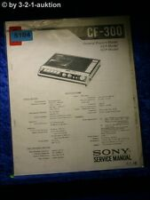 Sony Service Manual CF 300 Cassette Recorder (#5104)