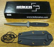 NEW Boker Plus 02BO275 Besh Wedge Fixed Blade Neck Knife & Kydex Sheath 440C