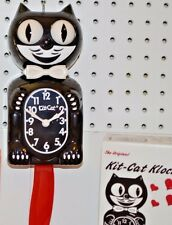 Kit Cat Clock Black with Red Tail and Moving Eyes and Tail  Made In USA