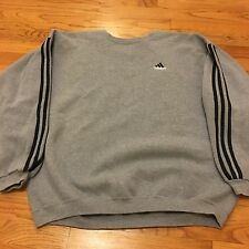 VTG 90s ADIDAS Three Stripes EQT EQUIPMENT Sweatshirt XL Made USA OG TreFoil