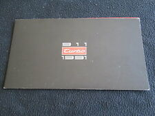 1991 1992 Porsche 911 Turbo Sales Brochure 964 Turbo 3.3 US Catalog w/Cards