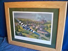 "FRAMED MILITARY WORLD WAR II ART PRINT ""BRIDGE BUSTERS"" - BY ANTHONY SAUNDERS"