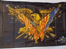 2ND AMENDMENT 1791 EAGLE WITH FLAG & GUN 3X5' FLAG NEW GUN RIGHTS