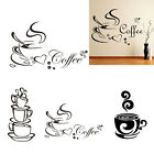 New Coffee Cup Diy House Kitchen Restaurant Decor Vinyl Wall Sticker