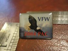VFW 2004 PAC FREEDOM INDEPENDENCE AMERICAN BALD EAGLE PIN LAPEL HAT