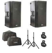 "QSC K12 12"" 2-Way Active 1000 Watt 1000W Powered Speaker Package"