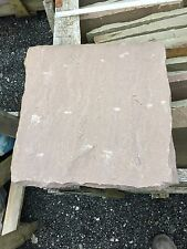 BRADSTONE INDIAN SANDSTONE PATIO PAVING SLABS FLAGS 600x600 RUSSET BROWN. 20543