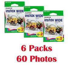 6 Packs FujiFilm Polaroid Fuji Instax Wide Film,60 Instant Photos 210 200 100