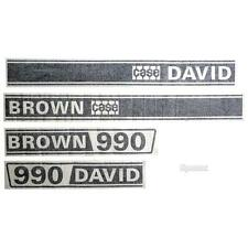 Case 990 / David Brown 990 Selectamatic Tractor Basic Hood Decal Set