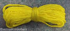 "Yellow Double Braided 5/32""x45' Nylon Rope Cord Tie Down Marine Boat Dock Line"