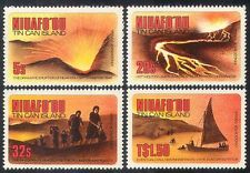Niuafo'ou 1983 Volcano/Eruption/Evacuation/Canoe/Boats/Transport 4v set (n40076)