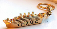 TITANIC KeyRing Gold Old Ship Novelty Vintage Holds House & Car Keys Historic UK