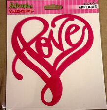Feltables Valentine's Fun Time Stick-On Applique - Pink Heart of LOVE