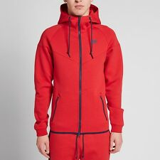 Men's NIKE Tech Fleece Windrunner FZ Hoodie - Size XL - Red - 545277-455