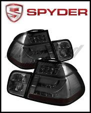 Spyder BMW E46 3-Series 02-05 4Dr Light Bar Style LED Tail Lights Smoke