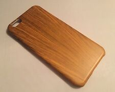 Apple Iphone 6 cover case protective hard back wood effect wooden oak brown