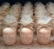 Personalised Vintage Style Scented Candle Midsize Wedding Favours (Set of 5)
