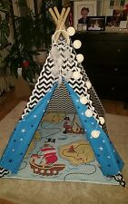 kids playroom childrens hand made teepee tipi wigwam tent and mat