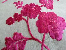 LAURA  ASHLEY MARCIANA VELVET curtain/UPHOLSTERY FABRIC remnant