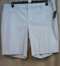 International Concepts INC Woman Shorts Sz 22W Taupe White Striped Casual Short