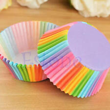 100pcs Mini Rainbow Paper Baking Cups Cupcake Liners Muffin Cupcake Paper Case