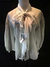 Valentino Roma Women's Striped Blouse w/ Tattered Collar Size 6 New! $935!