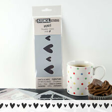 Stencil MiNiS - Vintage Hearts Border furniture stencils - The Stencil Studio