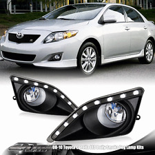 White LED Clear Lens Bumper Driving Fog Lights Lamps For 08-10 Toyota Corolla