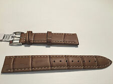 New - Light Brown Leather Strap - 18 mm - Correa Piel - Bolle Alligator Calf