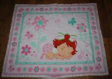 Baby Strawberry Shortcake Quilt Crib Blanket Pink Berry Sweet Nursery Toddler
