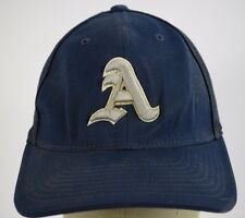 A Arsenal Mesh Navy Blue Baseball Hat Cap Fitted Stretch S/M 6 7/8 - 7 3/8