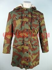 "WWII German Elite Italian Camo M42 Sheepskin Fur-lined ""Kharkov"" Parka S"
