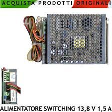 Alimentatore Switching 13,8 V 1,5 A Caricabatterie Stabilizzato Antifurto Emerg.