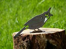 Cut Metal Rusty Red Bulbul Bird Garden Home Yard Outdoor Lawn Fence Art Decor