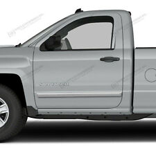 For: SILVERADO 1500 REG Painted Body Side Mouldings With Chrome Insert 2014-2015
