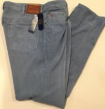 NEW POLO RALPH LAUREN VARICK SLIM STRAIGHT BLUE CORD JEANS SIZE: 38x32