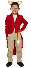 Childrens Mr Fox Red Jacket Ears & Tail for Boys & Girls Fantastic Fancy Dress