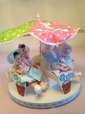 The Canadian Dionne Quintuplet Madame Alexander Dolls With Carousel MINT