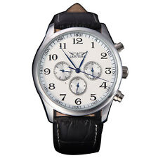 W6 Jaragar Automatic Winding Mechanical Black Dial Men's Wrist Watch