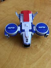 Power Ranger SPD Deluxe Delta Runner Squad Megazord Blue Flyer Zord