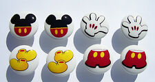8 MICKEY MOUSE PANT EARS GLOVE ETC DRESSER DRAWER KNOBS KIDS MADE AS ORDERED