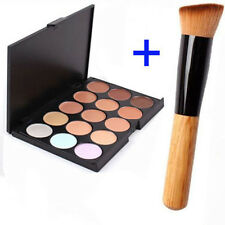 15 Color Contour Face Makeup Concealer Camouflage Neutral Palette Kit +Brush NEW