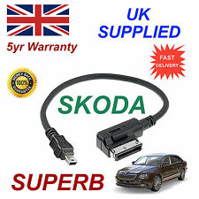 SKODA SUPERB MMI 000051446A MP3 SAMSUNG HTC MINI USB Cable replacement