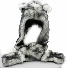 2016 Wolf Full Animal Hat Faux Fur Hat Cosplay Hat Cap Black Friday X'mas Gift