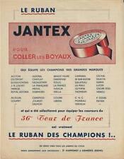 Publicité cyclisme vélo cycling bicyclette bicycle bicicletta ruban JANTEX 1945